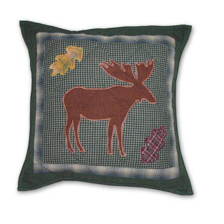 Northwoods Walk Cotton Throw Pillow by Patch Magic