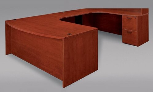 Fairplex Grommet Holes U-Shape Executive Desk by Flexsteel Contract
