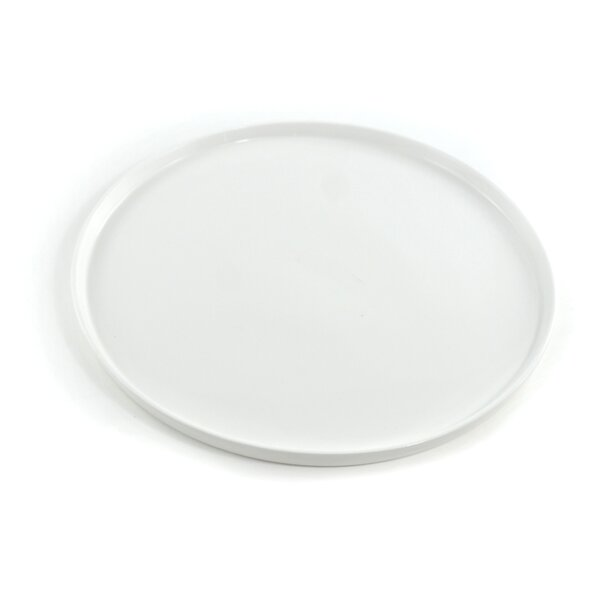 White Tie Porcelain Round Serving Tray by Tannex