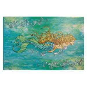 'I Sea Life Siren of the Sea Mermaid' Graphic Art on Wrapped Canvas by Highland Dunes