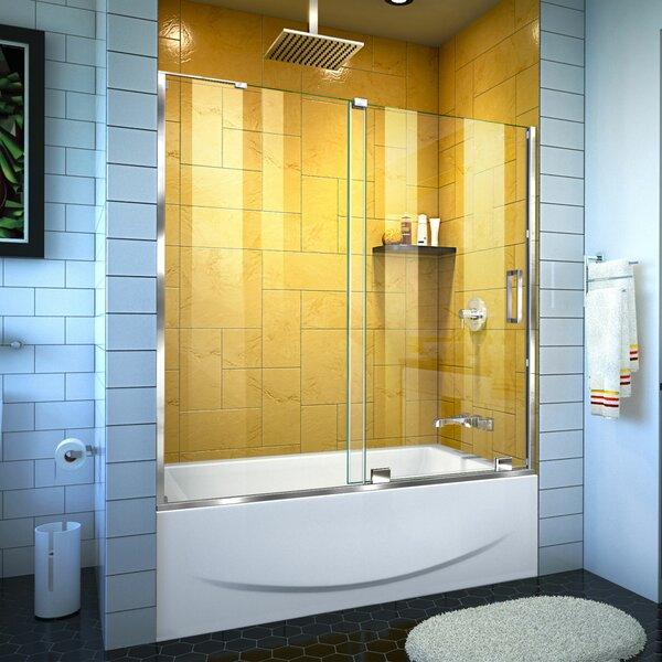Mirage-Z 58'' x 60 Single Sliding Frameless Tub Door with ClearMax™ Technology by DreamLine
