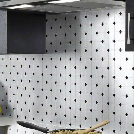 Sophisticated Porcelain Mosaic Tile in White/Black by Shaw Floors