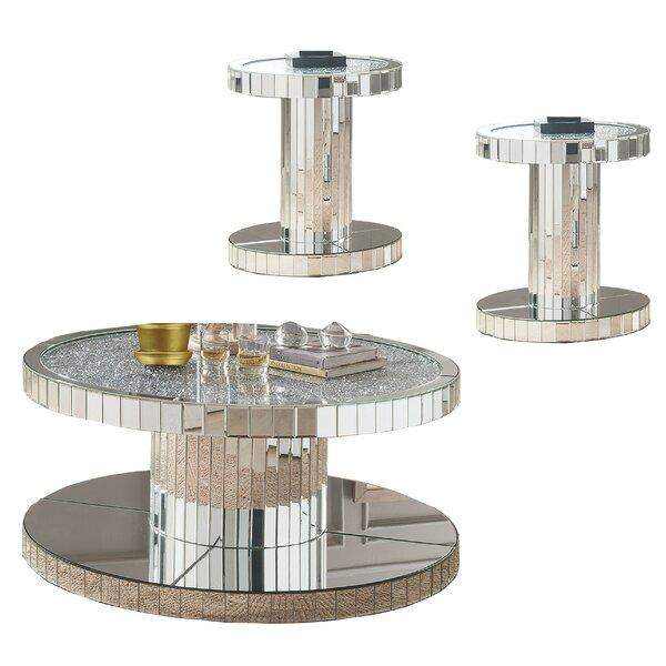 Vannoy 3 Piece Coffee Table Set by Rosdorf Park Rosdorf Park