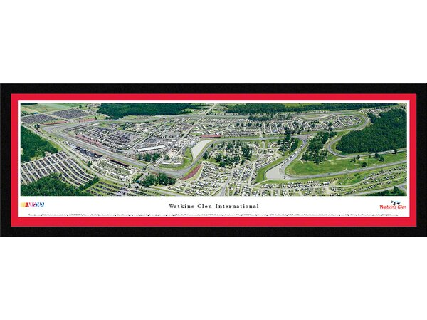 NASCAR Watkins Glen International by Christopher Gjevre Framed Photographic Print by Blakeway Worldwide Panoramas, Inc