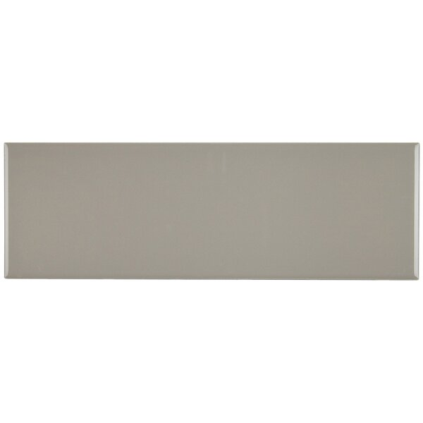 Berkeley 4 x 12 Ceramic Subway Tile in Architectural Gray by Itona Tile