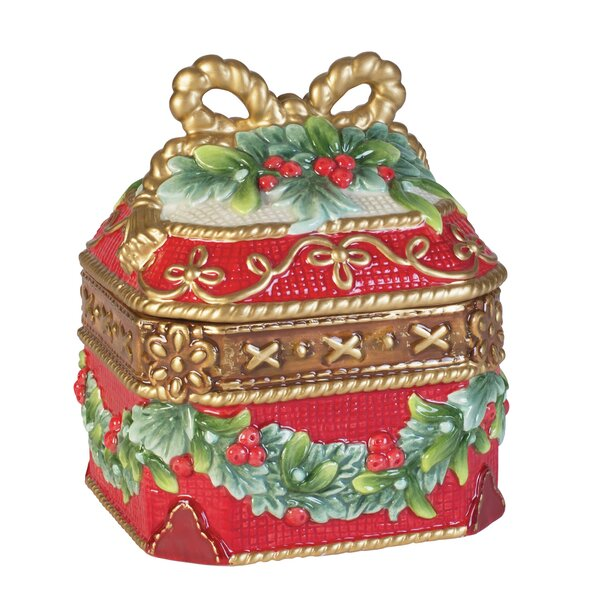 Yuletide Holiday Lidded Box by Fitz and Floyd