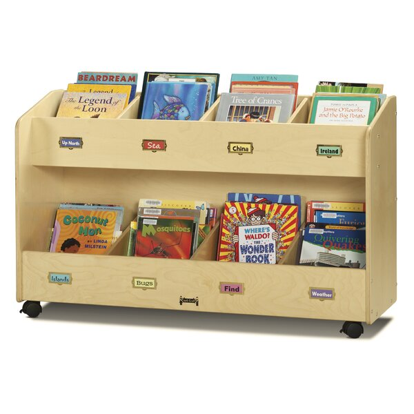 8 Compartment Book Display with Casters by Jonti-Craft