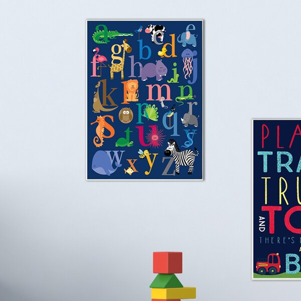 Navy Alphabet Animal Icons Canvas Wall Art by Stupell Industries
