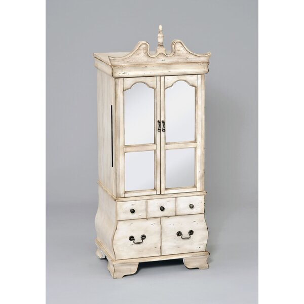 Otis Free Standing Jewelry Armoire with Mirror by A&J Homes Studio