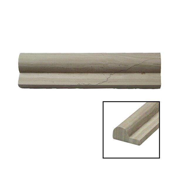 2 x 8 Marble Chair Rail Tile in Cream by Splashback Tile