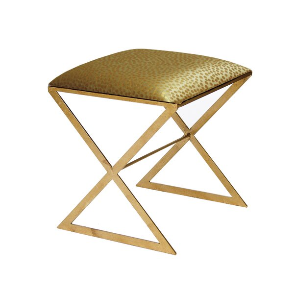 X Side Vanity Stool by Worlds Away