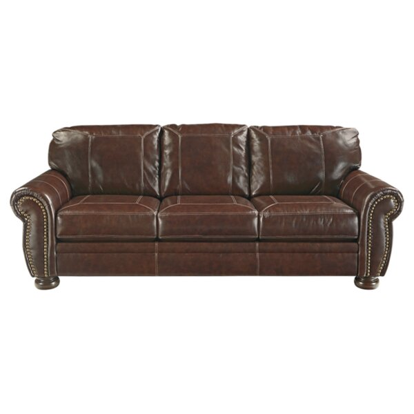 Ryan Leather Sofa by Trent Austin Design