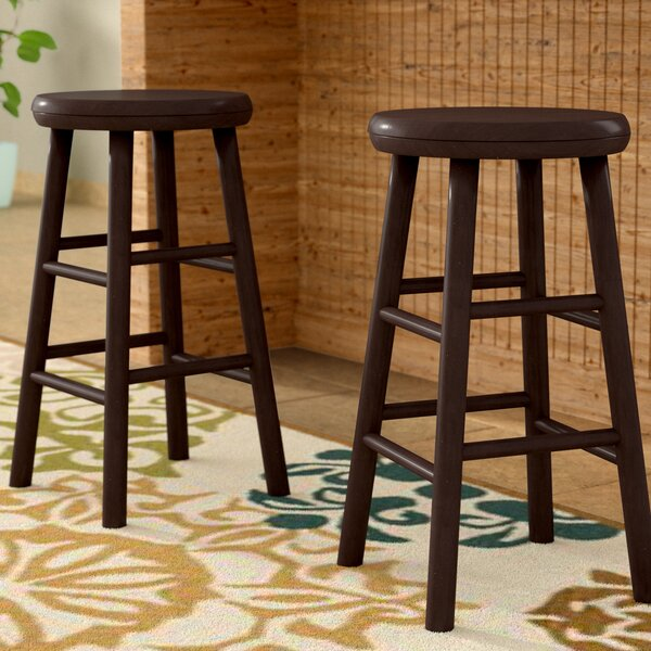 Scenic 24 Swivel Bar Stool (Set of 2) by Red Barrel Studio