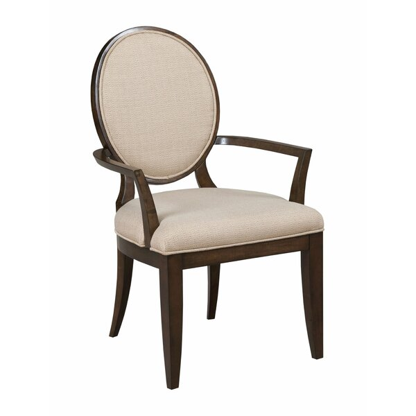 Bordeaux Arm chair in Beige by Canora Grey Canora Grey