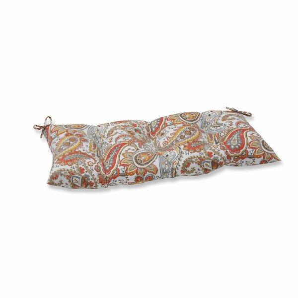 Hadia Sunset Indoor/Outdoor Loveseat Cushion by Pillow Perfect