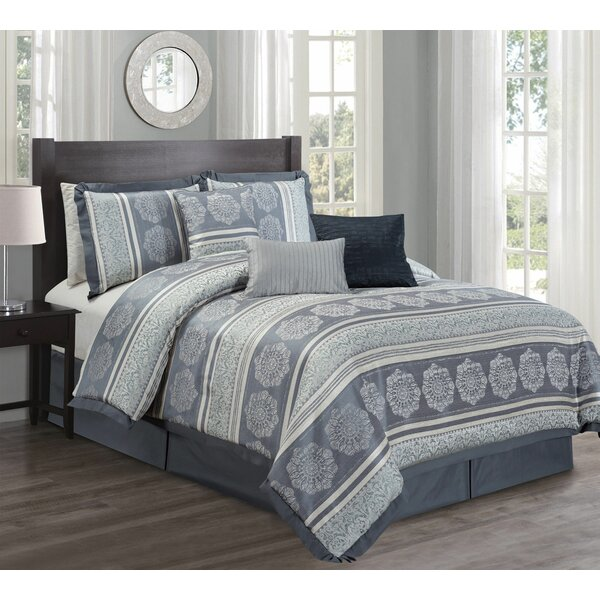Lineberry Slate 7 Piece Comforter Set by Astoria Grand