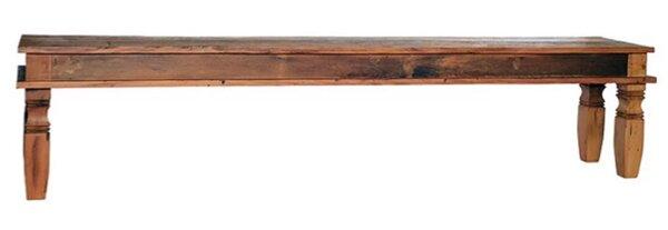 Minas Reclaimed Wood Bench by Alexandra Sophia Reclaimed