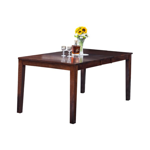 Boswell Extendable Solid Wood Dining Table by TTP Furnish