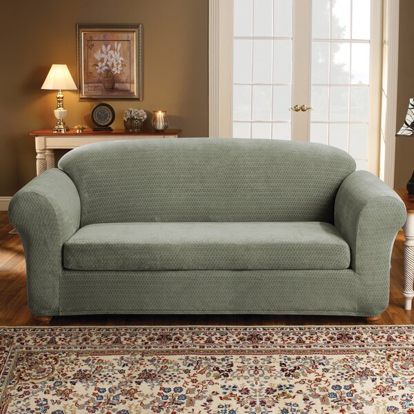 Strech Royal Diamond Box Cushion Sofa Slipcover By Sure Fit