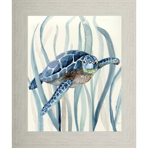 'Blue Turtle I' Framed Print by Pictures and Mirrors