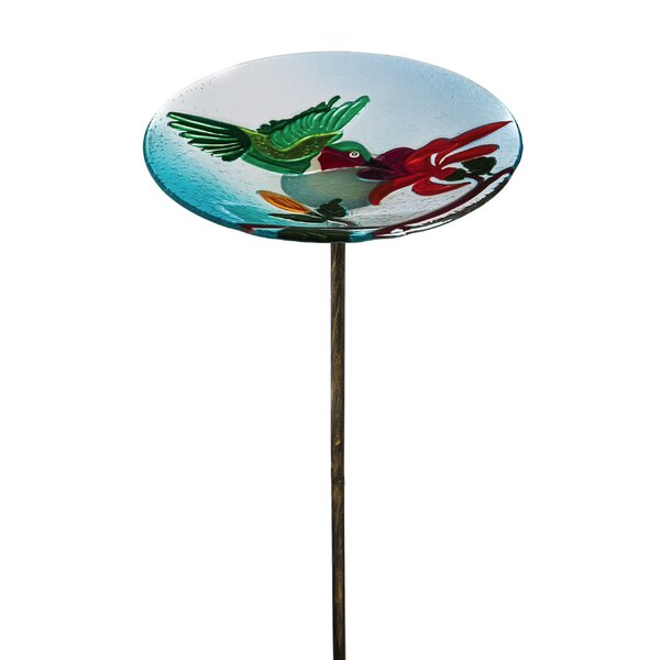 Hummingbird Flutter Garden Birdbath by Evergreen Enterprises, Inc