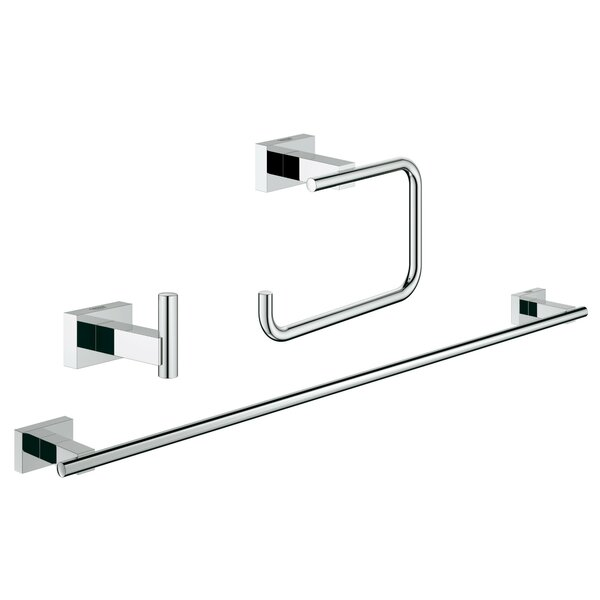 Essentials 3 Piece Bathroom Hardware Set by Grohe
