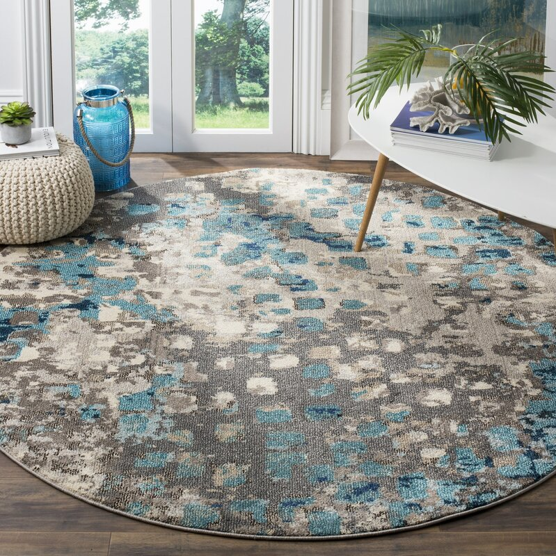 Bungalow Rose Crosier Grey & Light Blue Area Rug & Reviews