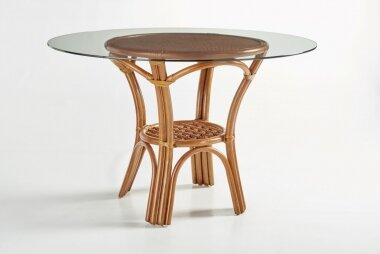 Strachan  Glass  Dining Table by Bay Isle Home