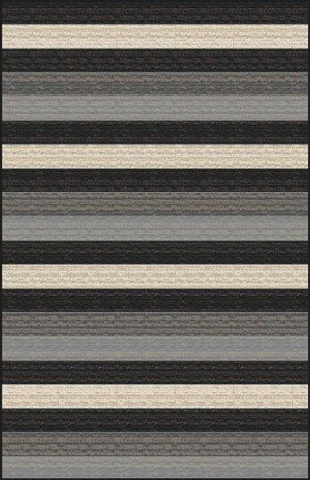 Mcgehee Striped Black/Gray Area Rug by Orren Ellis