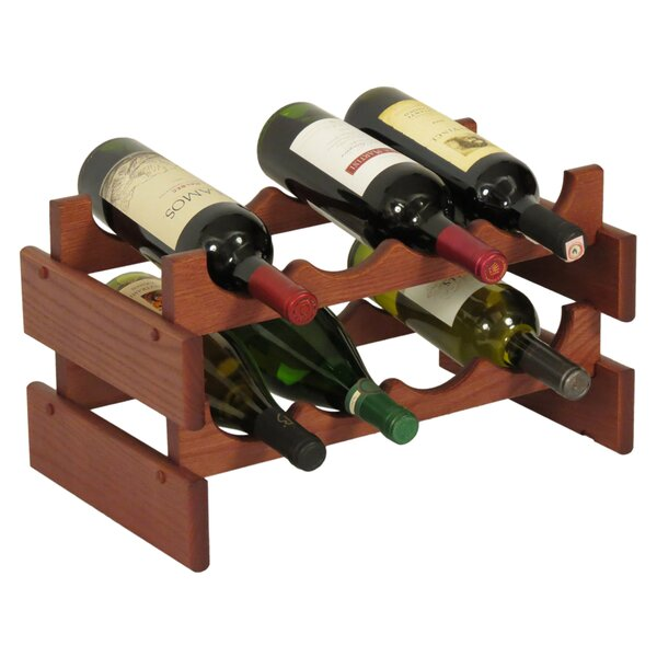 Dakota 8 Bottle Tabletop Wine Rack by Wooden Mallet