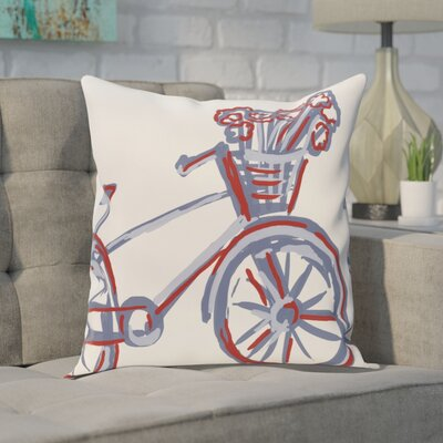 Floral Print Outdoor Square Pillow