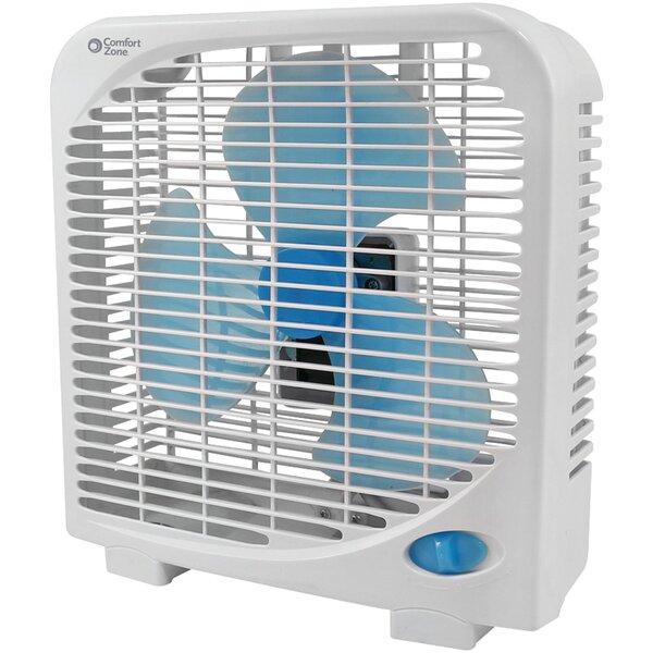 2 Speed Portable Box 9 Floor Fan by Comfort Zone