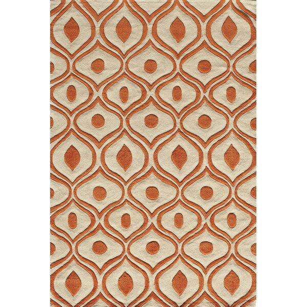 Perkins Hand-Tufted Orange Area Rug by Zipcode Design