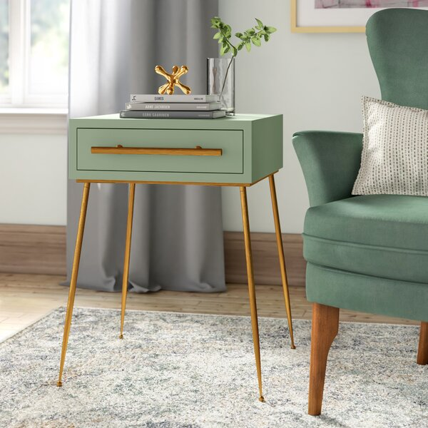Kimble End Table With Storage by Joss & Main