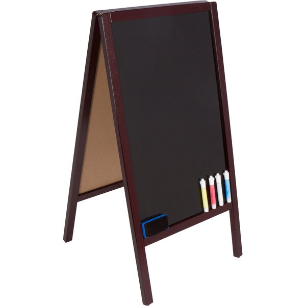 Sidewalk Two-Sided Marker Board Easel by Trademark Innovations