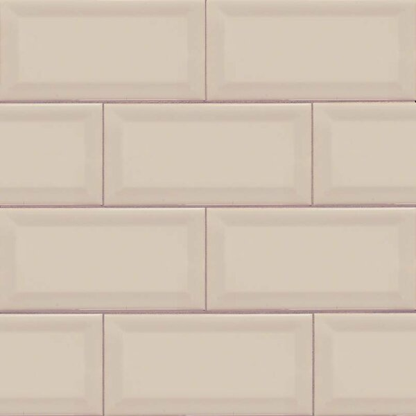 Almond Glossy 3 x 6 Ceramic Subway Tile in Beige by MSI