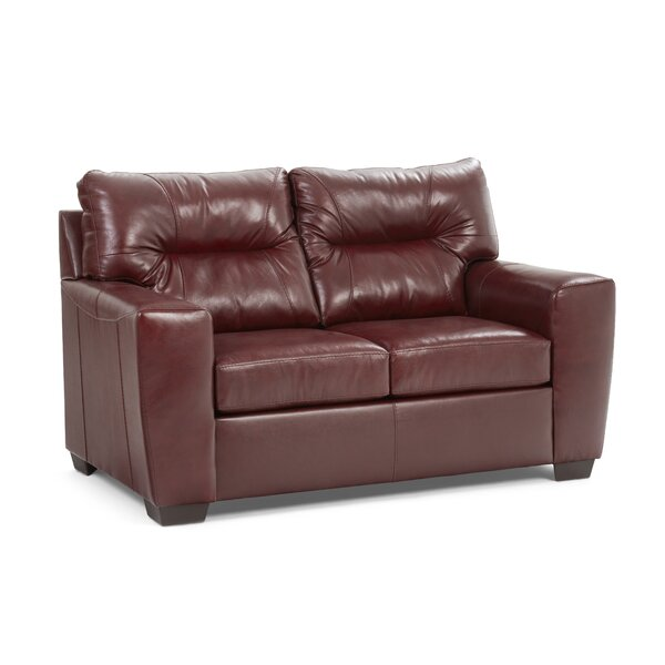 Oliver Leather Loveseat by Williston Forge