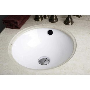 Reviews Ceramic Circular Undermount Bathroom Sink with Overflow By American Imaginations