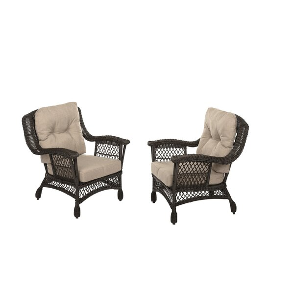Demott Outdoor Garden Arm Chairs (Set of 2) by Highland Dunes