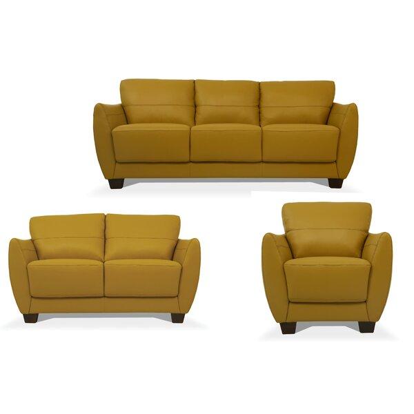 Brookhhurst 3 Piece Leather Living Room Set By Latitude Run