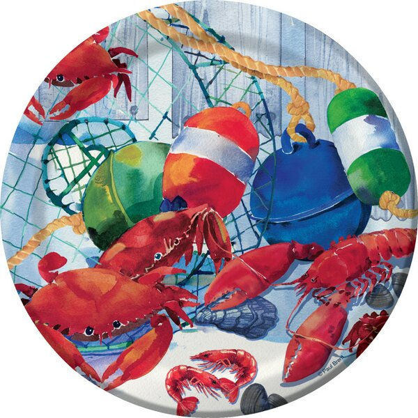 Seafood Celebration Dessert Plate (Set of 8) by Creative Converting