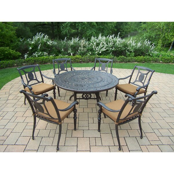 Zonia 7 Piece Dining Set with Cushions by Charlton Home