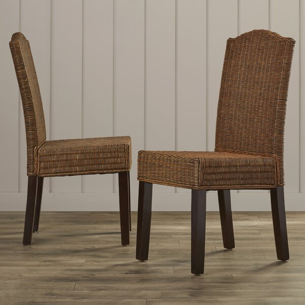 Olympus Solid Wood Dining Chair (Set of 2) by Beachcrest Home
