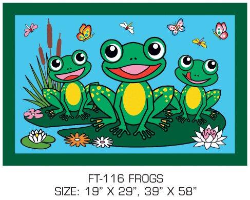 Fun Time Frogs Kids Rug by Fun Rugs