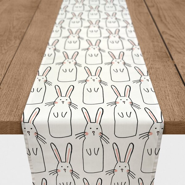 Gandara Cute Rabbit Cotton Table Runner by Ivy Bronx