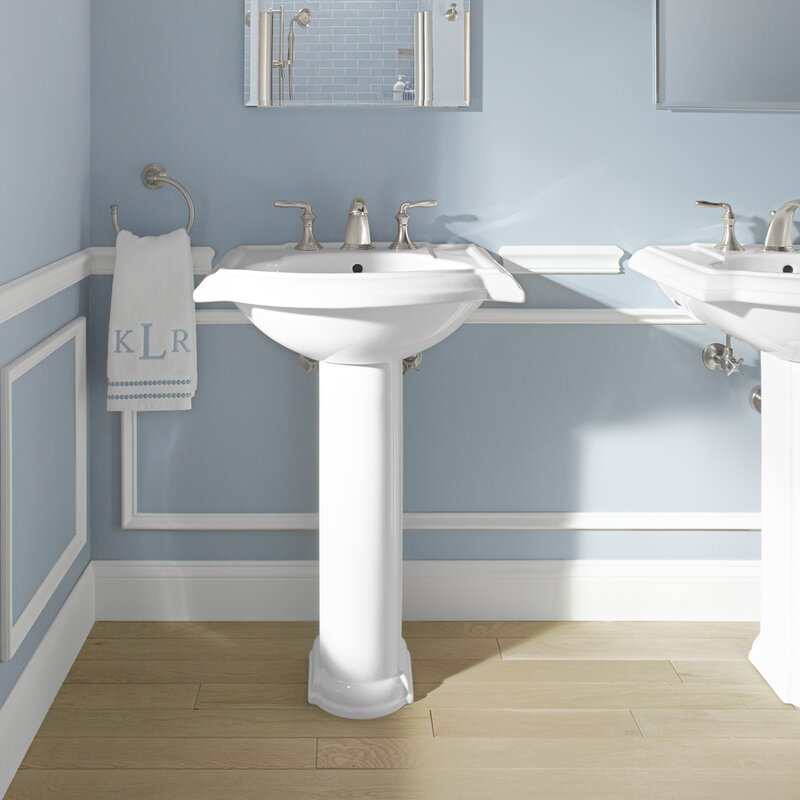 Devonshire  Ceramic 25  Pedestal Bathroom Sink with Overflow. Kohler Devonshire  Ceramic 25  Pedestal Bathroom Sink with