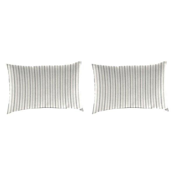 Bassler Indoor / Outdoor Striped Lumbar Pillow (Set of 2)