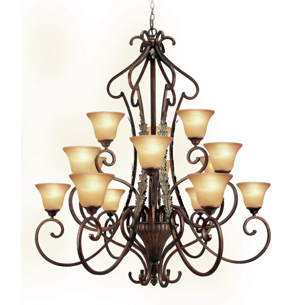 Weitzman 15-Light Shaded Tiered Chandelier by Astoria Grand Astoria Grand