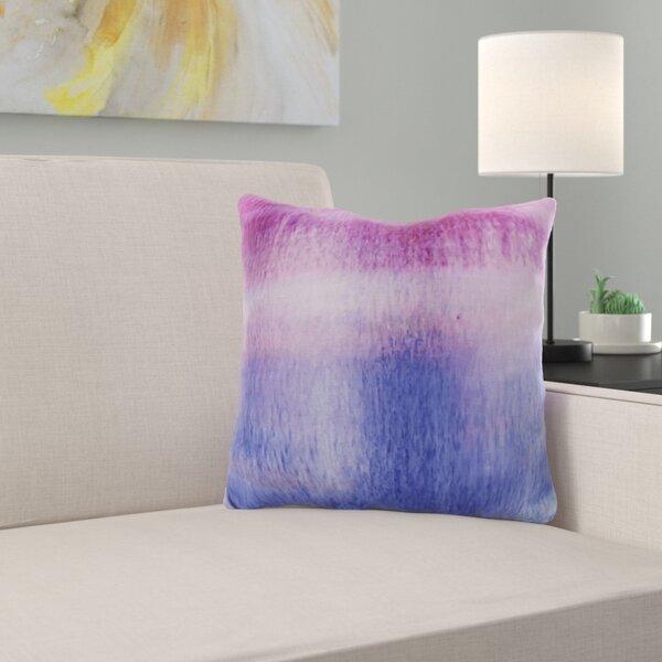 Ferrel Painted Sunset Stripe Throw Pillow by Ebern Designs