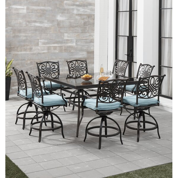 Carleton 5 Piece High Dining Set with Cushions
